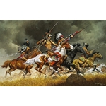 ~ Thunder Across the Plains - Indian attack by western artist Frank McCarthy