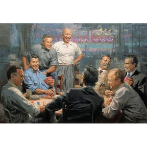 Grand Ol' Gang - Republican Presidents playing poker by artist Andy Thomas