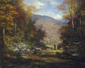 one fold one shepherd by landscape artist larry dyke