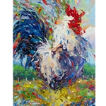 Confetti Rooster by Larry Dyke