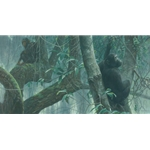At Mahale - Chimpanzees by Robert Bateman