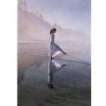 Dancing on the Shore (1) by watercolor artist Steve Hanks