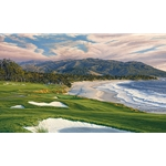 2010 U.S. Open Championship, the 9th Hole, Pebble Beach Golf Links by Linda Hartough