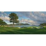 18th Hole, Pebble Beach Golf Links by Linda Hartough