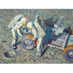 Fender Lovin' Care - lunar rover repair by astronaut artist Alan Bean