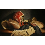 Legends of the Game - still life of old football gear by Kyle Polzin