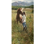 Field of Dreams - young woman and her horse by Steve Hanks