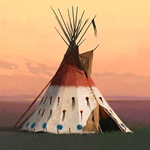 Hair Apparent - large tepee by R. Tom Gilleon