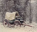 Chuck Wagon in the Snow by James Bama