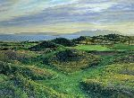 Postage Stamp 8th Hole Royal Troon by Linda Hartough