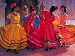 Prelude to the Dance by western artist Ron Riddick
