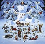 Jingle Bell Teddy and Friends by Charles Wysocki