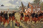 Collapse of the Peach Orchard Line - Civil War Battle of Gettysburg by Bradley Schmehl