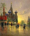 Light Rain on Red Square by G. Harvey