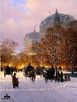 A Stroll on the Plaza (New York) by G. Harvey