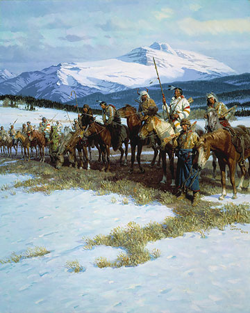 The Blackfeet Wall By Tom Lovell