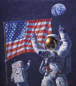In The Beginning By Astronaut Artist Alan Bean