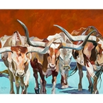 Texas Longhorns by George Jones