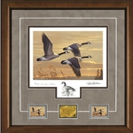 2017-2018 Federal Duck Stamp Print EXECUTIVE EDITION - Geese at Sunset by James Hautman
