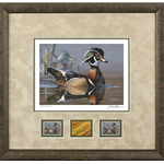 2019-2020 Federal Duck Stamp MEDALLION EDITION - Wood Duck and Decoy by Scot Storm