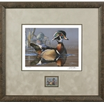 2019-2020 Federal Duck Stamp COLLECTOR EDITION - Wood duck and Decoy by Scot Storm