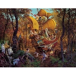 Flight of the Fablemaker by artist James Christensen