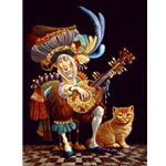 Serenade for an Orange Cat by artist James Christensen