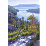 Cascade of Light, Emerald Bay, Lake Tahoe by June Carey