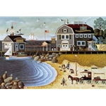 Clammers at Hodge's Horn by Charles Wysocki