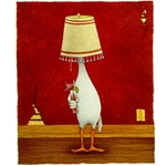 Life of the Party - Duck with lampshade by humor artist Will Bullas