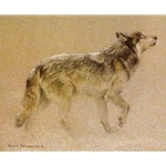 Catching the Scent Wolf by Robert Bateman
