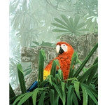 Double Take -  Scarlet Macaw by wildlife artist Rod Frederick