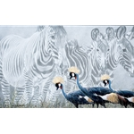 Zebra Mirage - African crested crane by wildlife artist Rod Federick