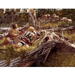 Hunting the Bighorn by artist Paul Calle