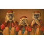 Hear No Evil See No Evil Speak No Evil by humor artist Scott Gustafson