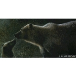 Seeking Attention - Grizzly and Cub by wildlife artist John Seerey-Lester