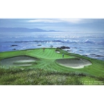Pebble Beach - Seventh Hole by Peter Ellenshaw