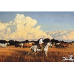 Storm Clouds are Building by western artist Tim Cox