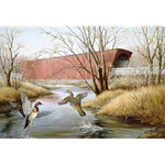 Roseman Bridge Madison County by Iowa artist Maynard Reece