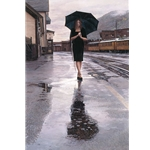 Waiting in the Rain (Durango, Colorado) by artist Steve Hanks