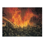 Through the Flames - Forest Fire by artist Paco Young