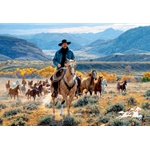 Good Horses and Wide Open Spaces by cowboy artist Tim Cox