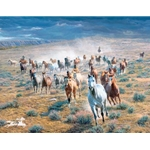 Rumbling Thunder - Wild Horses by western artist Tim Cox