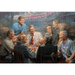 True Blues - Democratic Presidents playing poker by Andy Thomas