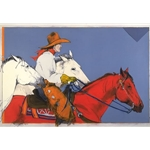The Thrill of the Race by western artist Donna Howell-Sickles