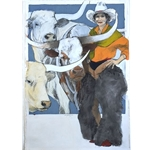 Standing With the Boys by cowgirl artist Donna Howell-Sickles