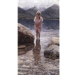 Nature's Beauty - girl on shore by artist Steve Hanks