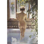 Morning Bath - nude by figure artist Steve Hanks