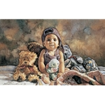 Michaela and Friends - baby portrait by artist Steve Hanks