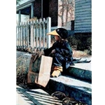 Little Black Crow - halloween costume by artist Steve Hanks